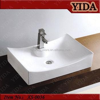Ceramic Bathroom Sink Wash Basin Gl Bowl Table Top