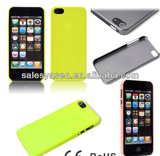 For Apple iPhone 5 hard cover ultra thin plastic case