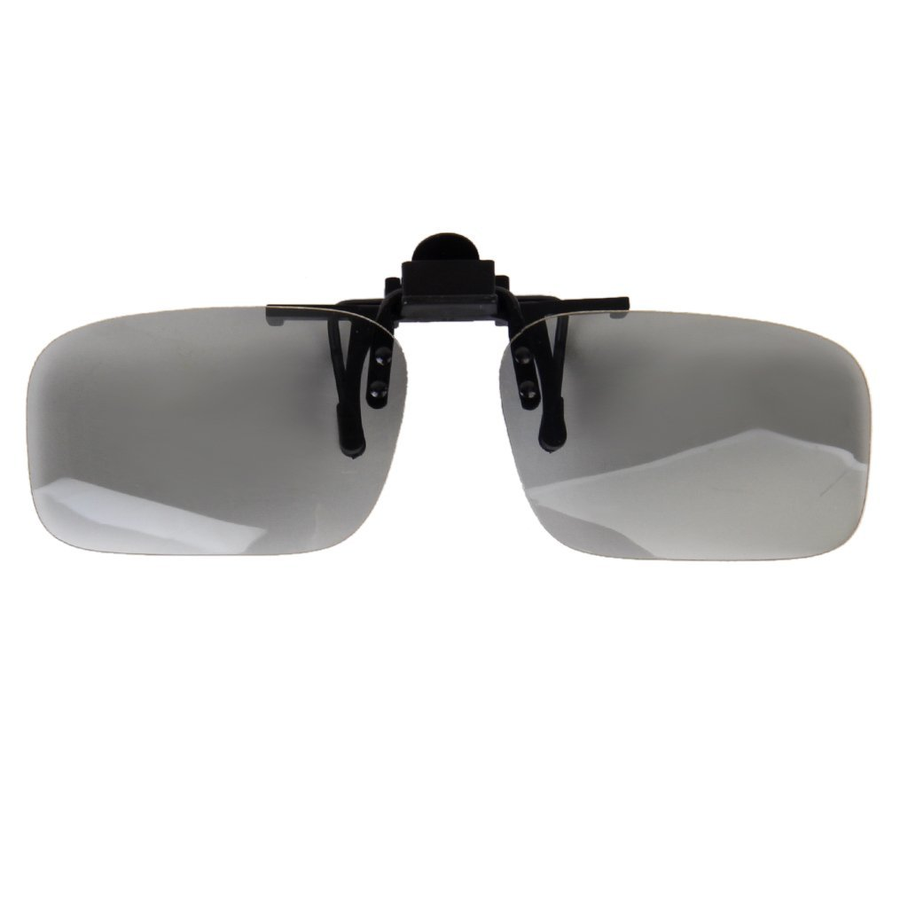 1 Pair Clip On type Passive Circular Polarized 3D Glasses Clip for 3D TV