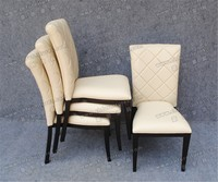 Wholesale Stackable White Leather Hotel Dining Chair YC-F002