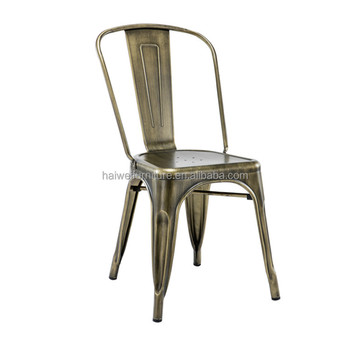 Cheap Replica Industrial Vintage Metal Stacking Chairs