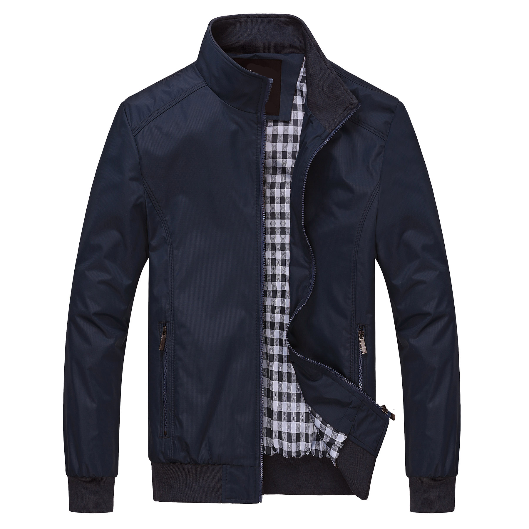 Blank hot sale best quality blue long sleeve jacket mens with zipper from China, As picture or customized make