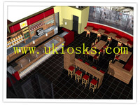 Coffee shop furniture&food counter with chairs and counters