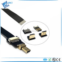 Ultra Thin HDMI Cable Type C Mini Right Angle 90 Degree Male to Female Straight Type C Flat Ribbon Cable FPV