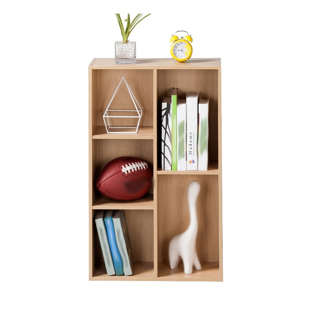 LQQGXL Storage and organization Living Room Bookcase Storage Cabinet Rectangular Wooden Bedroom Locker Five Wooden Lockers 80x23.8x50 cm