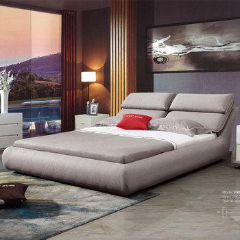Grau Einfache Stoff Bett Zimmer Mobel Schlafzimmer Set Mit Nacht