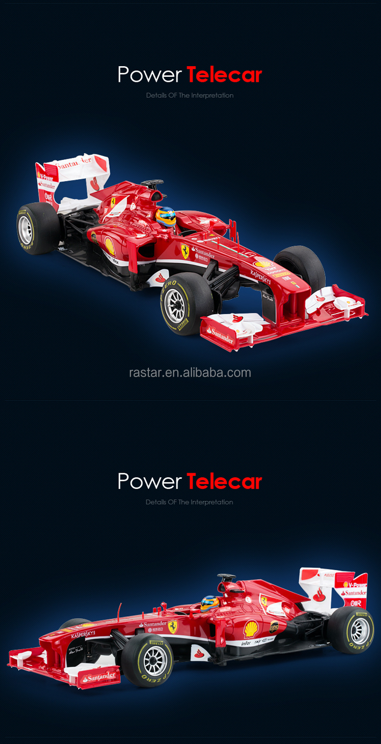 RASTAR license plastic replica Ferrari F1 battery super remote control car