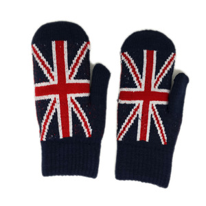 China factory cheap price acrylic knitted gloves wholesale mittens