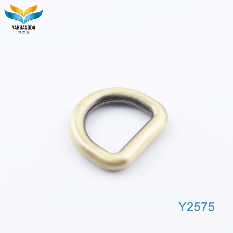metal triangle gold welded d buckle ring