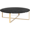 Black Stone Marble Top Coffee Table for Living Room Furniture