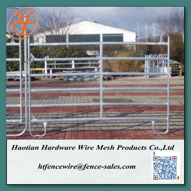 Best Portable Horse Corral Haotian Portable Horse Fence Panel,6'-9' Galvanized Steel Pipe Horse Round Pen,Pony/Alpaca Corral