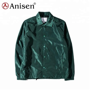Clothing manufacturer windbreaker lightweight100% nylon sports coach jacket man jacket