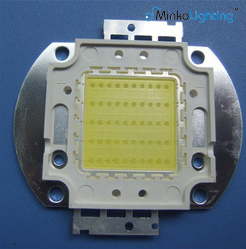 led COB chip 50W red copper epistar bridgelux walsin lihua use in flood light ,high bay light,street light 130lm/w DC30-34V WW/C