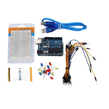 Uno R3 Plus Breadboard 400 Point And Leds Starter Kit
