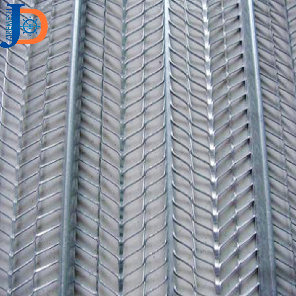 Factory supply 0.4mm galvanized high rib lath for building