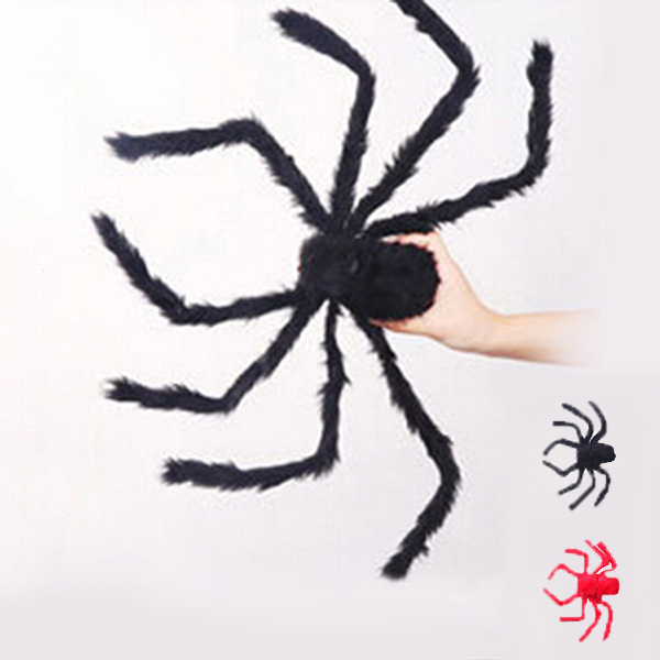 Get Quotations  C2 B7 Hot Newest Halloween Props Bar Party Supplies Plush Spider Good Quality Adults Halloween Tricky Prop Spiders