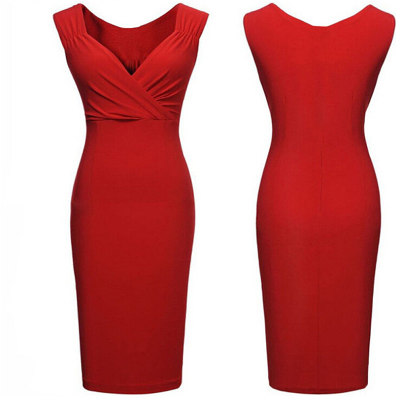 Get Quotations · Vestidos De Fiesta 2015 Women Summer Style Sexy V-Neck  Tank Dresses Ladies Black Red eb48bbe1aec0