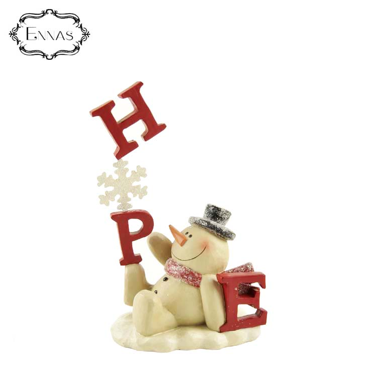 2020 Wholesale Hand Made Gift Craft Polyresin Snowman