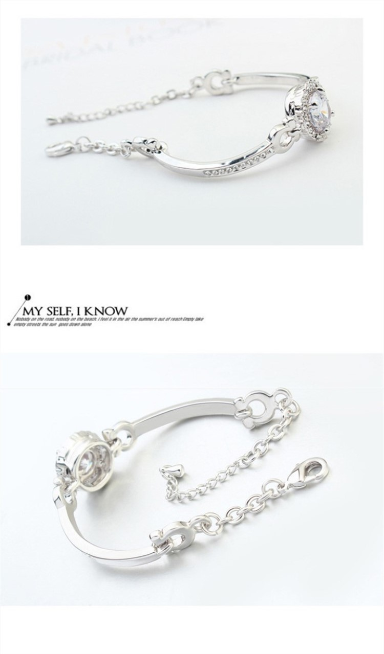 Factory direct 금 plated charm bracelet women