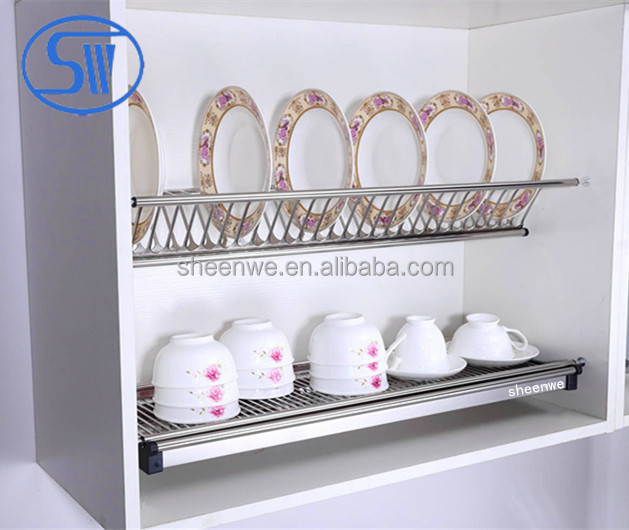 Wdj160 Waterproof Kitchen Bowl And Plate Rack Cabinet Stainless Steel Dish