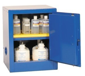 "Eagle CRA-1924 Acid/Corrosive Safety Cabinet, Self-Closing, 1 Door, 1 Shelf, 23"" Width x 35"" Height x 18"" Depth, 12 Gallon Capacity"