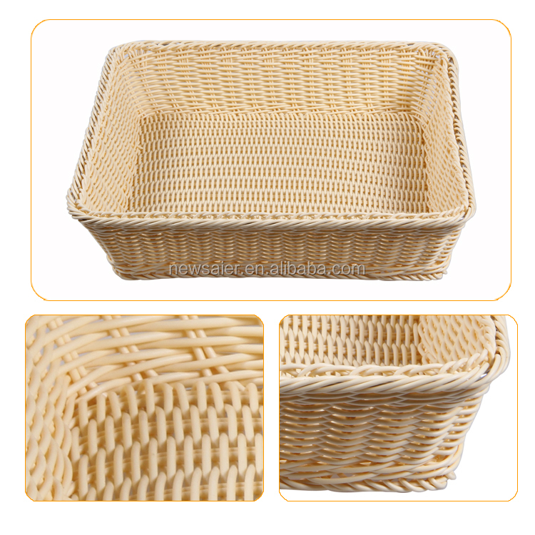 New product 2017 round rattan basket with handle