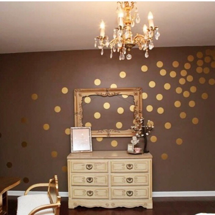 Best Of Gold Polka Dot Wall Decals About My Blog - Wall decals gold