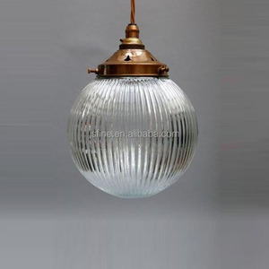 industrial clear glass ball pendant light cover