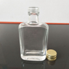 100ml empty flat glass bottles flask glass vodka bottle with aluminous lid