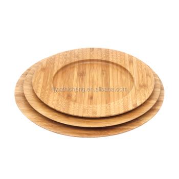 Naturliche Runde Bambus Sushi Tablett Set Heisser Verkauf Geschirr 3