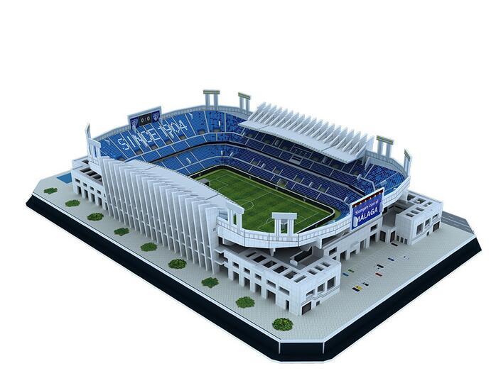 Super 3D Stadion Sepak Bola Puzzle DIY Robot Mainan 3D Busa DIY Cetak Besar Jigsaw Puzzle Maker Printer