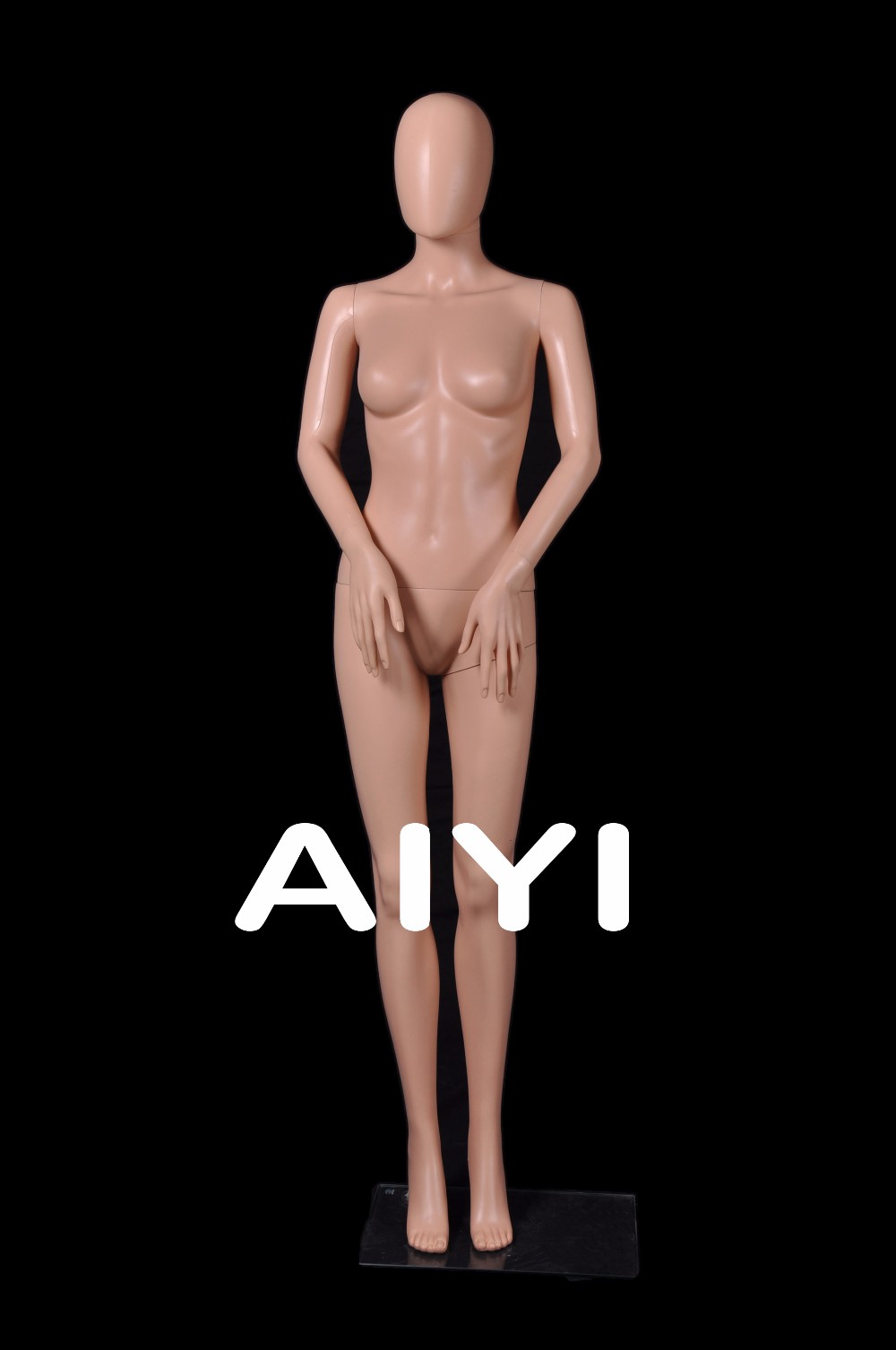 AIYI display with a mannequin head moveable