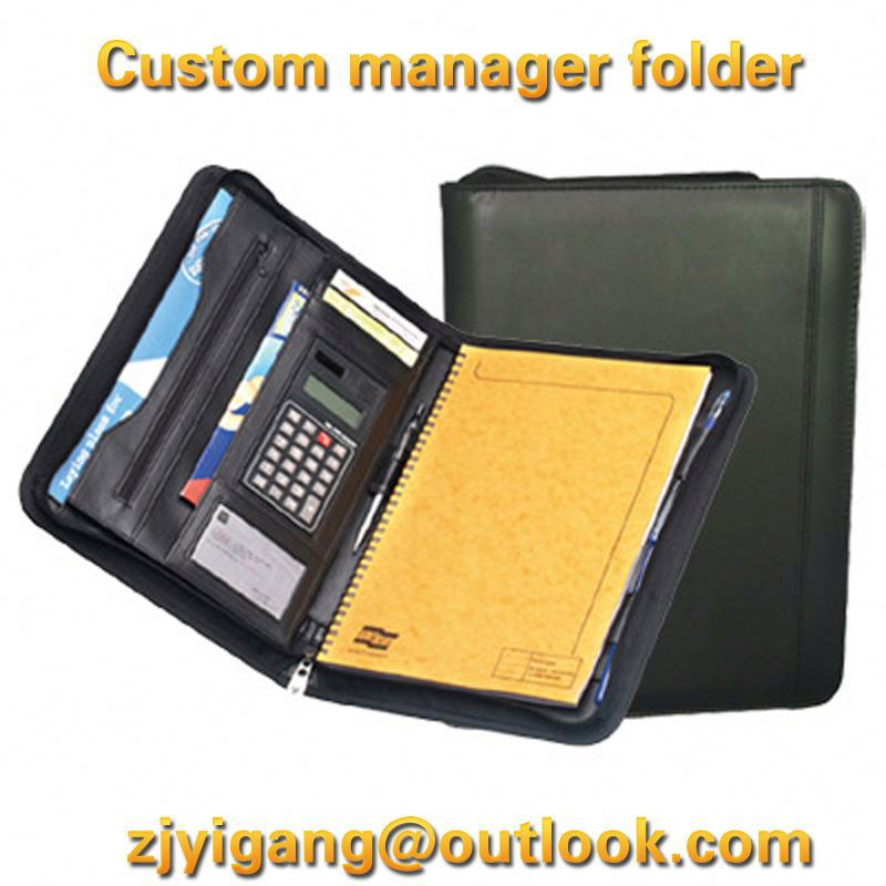 Customized file leather Graduation leather certificate folder