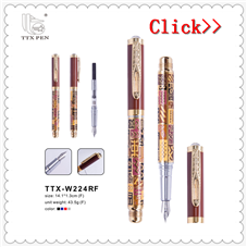 2018 Promotion Gift Metal Pen Metal Fountain Pen for Business Corporate Pen