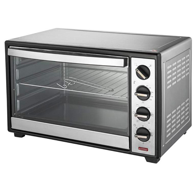 Electric glass oven CB/ROHS/LFGB approval 30L portable yellow toaster oven