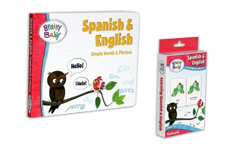 Brainy Baby Spanish/English Book and Flashcards Set