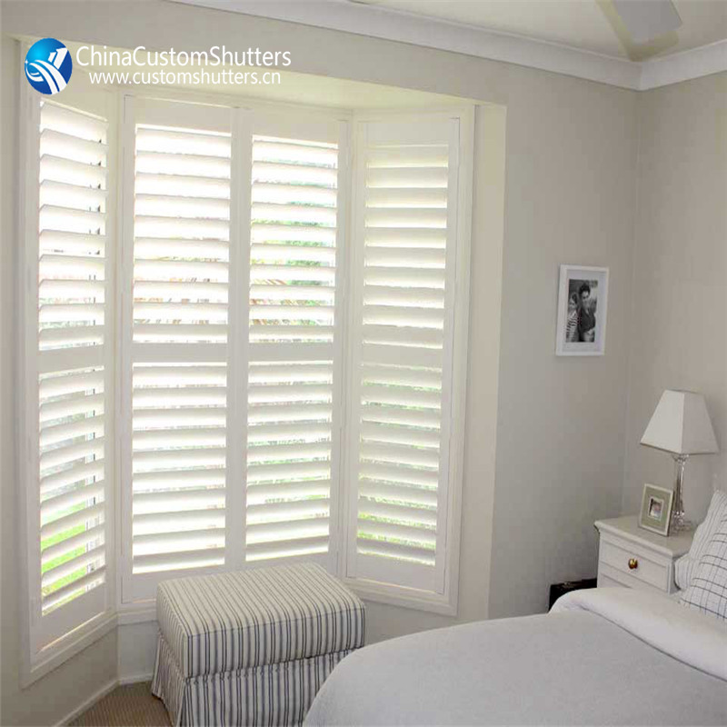 China manufacturer interior white wood louver panels