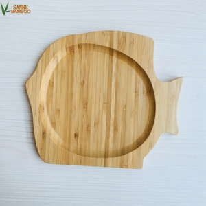 Fish Shape Dinner Dish Bamboo Party Food Serving Tray Snacking Food Tray Baby Plate