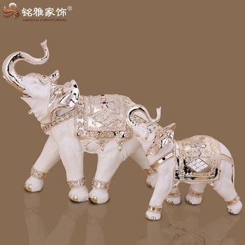 home decoration pieces thai elephant animal figurine resin indoor