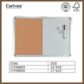 Half White Board Half Cork Board With Whiteboard Marker - Buy Metal ...