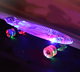 "22"" Skate board Nickel Cruiser mini skates plastic longboard with LED flashing wheels"