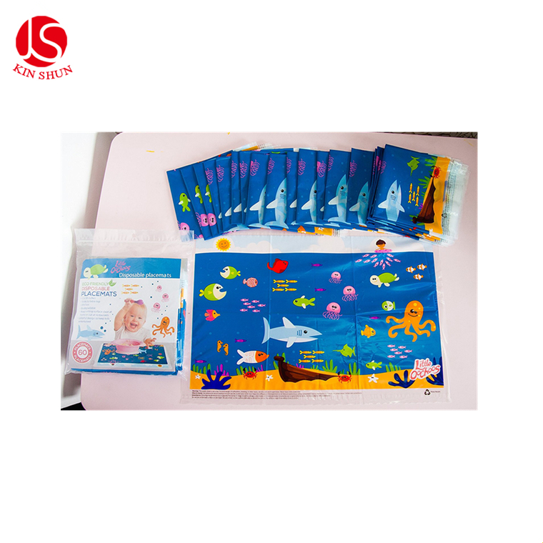 2018 waterproof Customized printed clear plastic placemat