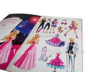 2016 factory transparent PET removable sticker children's book