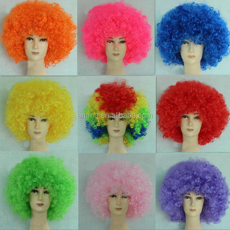 Best selling very welcomed by lots of people party kinky curly wigs W12230