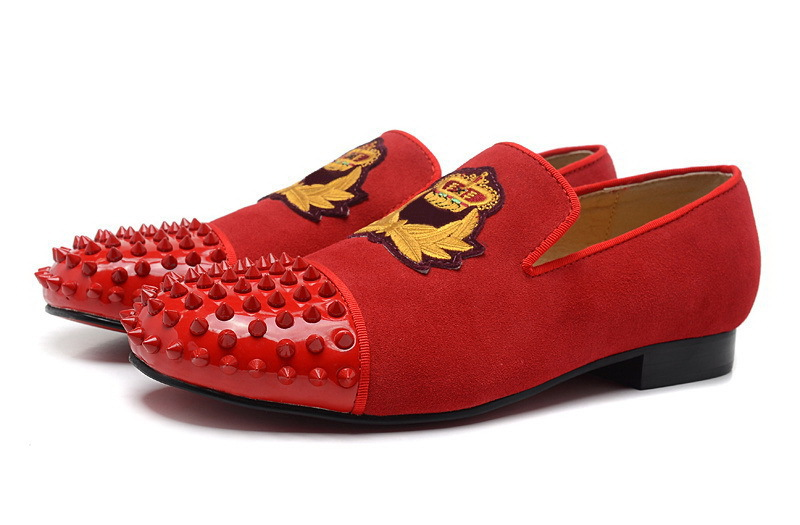 Get Quotations · Spikes Harvanana shoes suede red bottom loafers shoes for  women men girl s INTERN FLAT Casual Spikes 1793235128eb