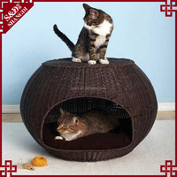 Indoor rattan pet bed cheap dog houses