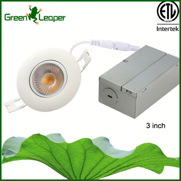 No need pot light housing 3-in 8w led recessed downlight Ideal For Sloped Ceilings