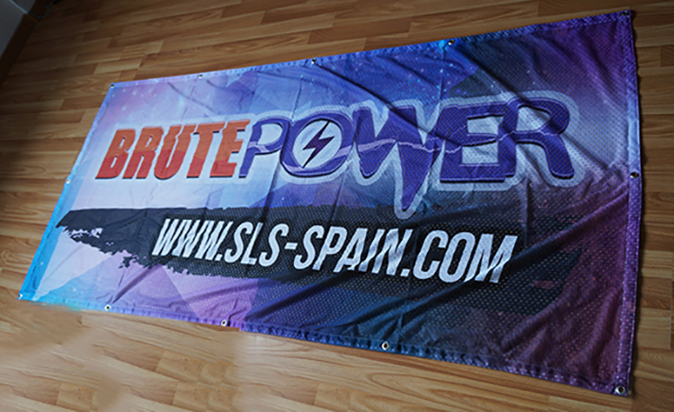 Textile Large sports event banner sports event promotional mesh banner