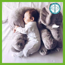 Wholesale cute soft plush animal cushion baby elephant pillow