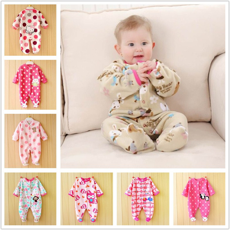 30ad63c7fd40 Cute Cartoon Pink newborn baby girls clothing baby jumpsuits newborn ...